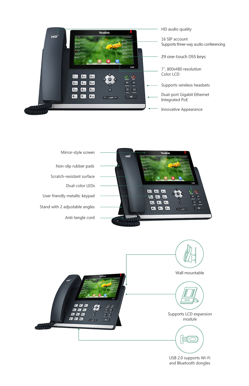 Yealink T48 Executive Touch Screen SIP Phone – VANTACT